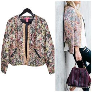 Catherine Malandrino Studded Quilted Jacket Blazer